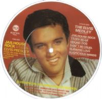 Elvis Presley - The Elvis Medley/Jailhouse Rock (1028) Picture Disc. M-